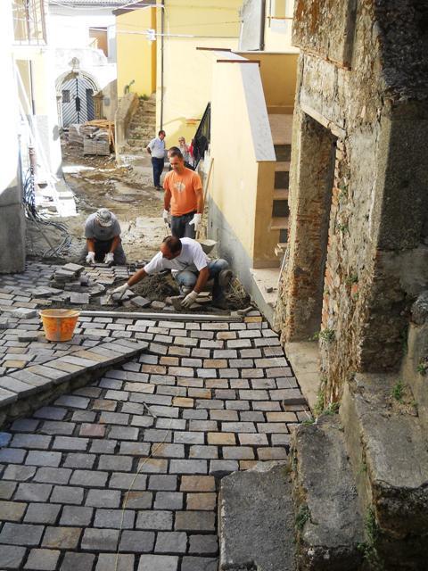 I lavori nel centro storico