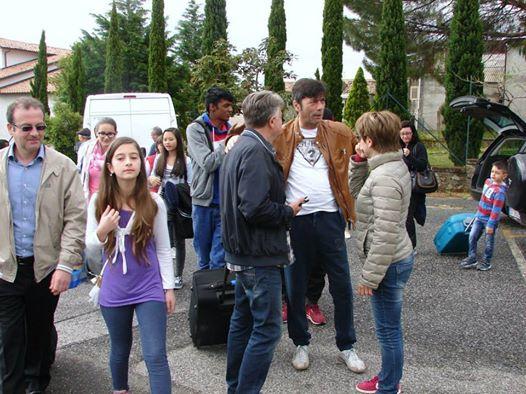 Amaroni, l'arrivo degli studenti di Risch