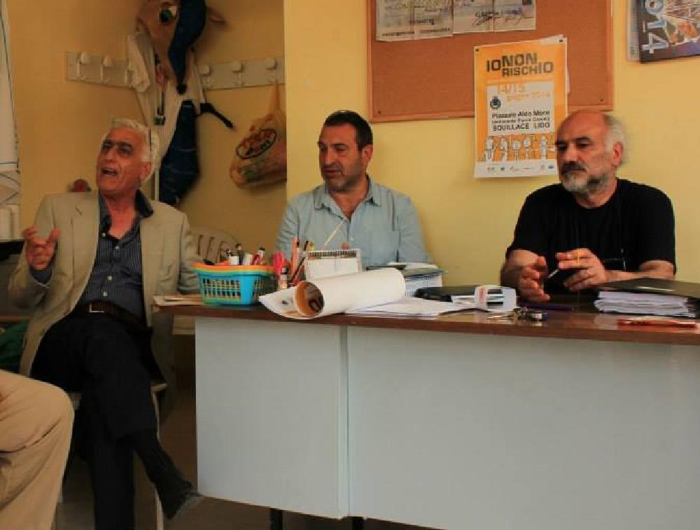 Una fase della riunione operativa. Da sx: Muccari, Zofrea e Pipicella