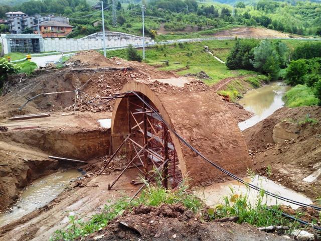 Il ponte interessato dai lavori di recupero