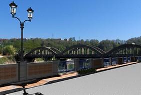 Cardinale, una veduta del  ponte sull'Ancinale
