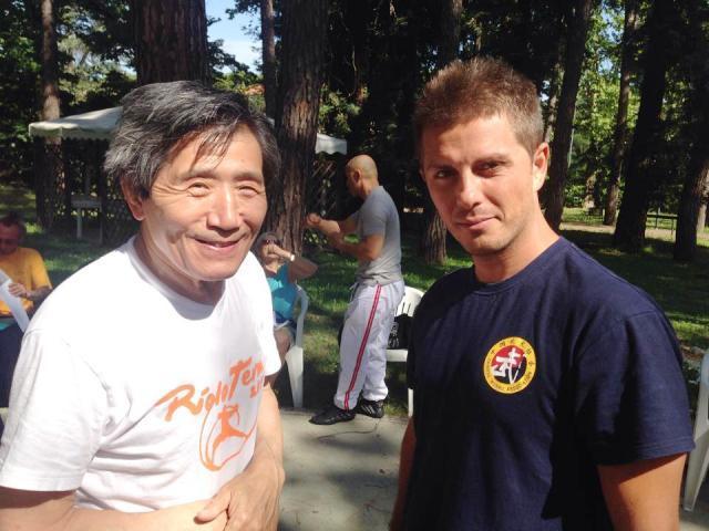 Il maestro Massimo Scalzo con il gran maestro Youan Zoumou