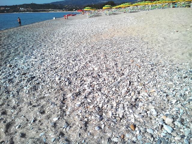 """Il tratto di spiaggia """"interdetto"""""""