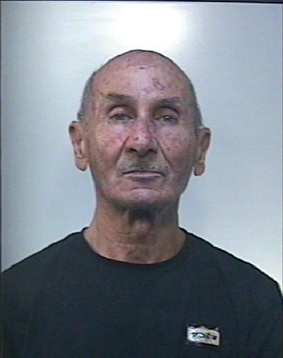 Il pensionato tratto in arresto