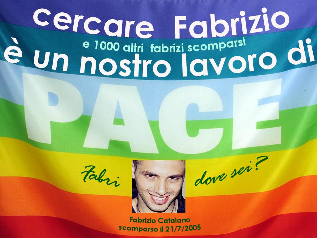 """La bandiera """"di Fabrizio"""" inneggiante alla apce"""
