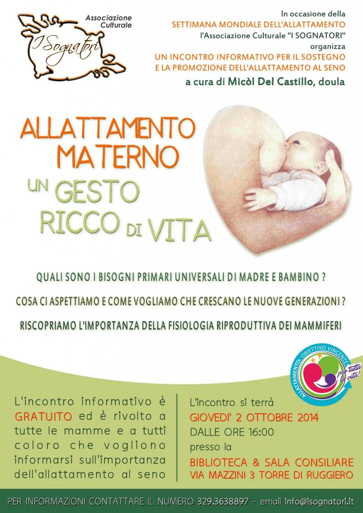 sognattori allattamento materno