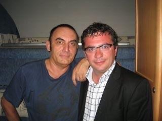Mango e Conforto in occasione del concerto a Gasperina del 2007