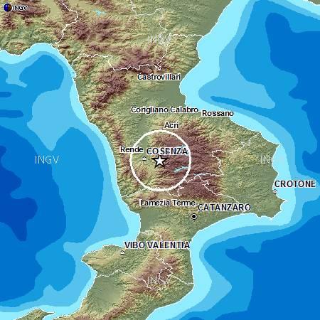 terremoto catanzaro squillace