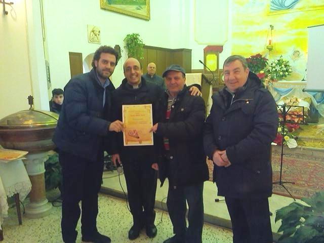 Da sinistra: Mirarchi, don Roberto, Gioitta e don Franco