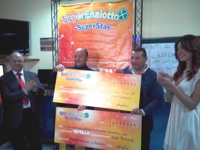 La Sisal consegna gli assegni dei vincitori