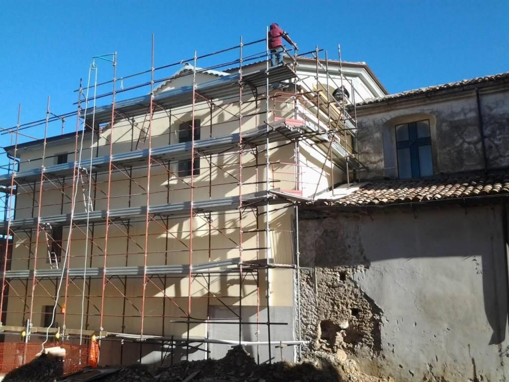 La Matrcie interessata dai lavori di sistemazione del tetto