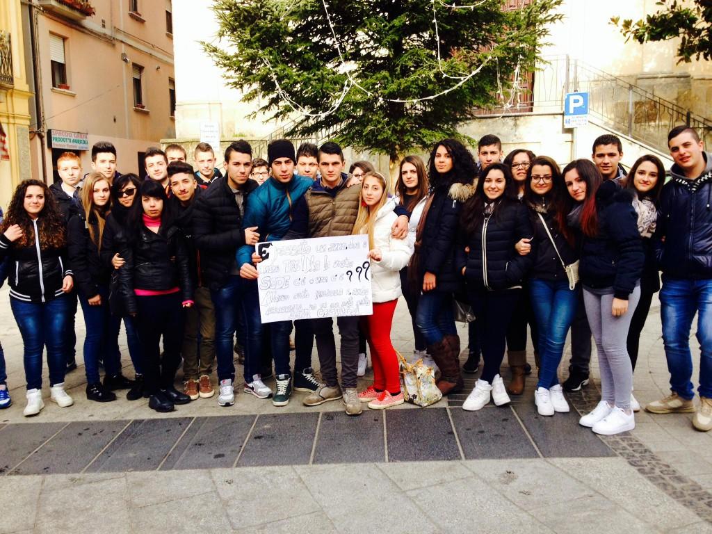 La delegazione degli studenti: rivendicano una scuola idonea