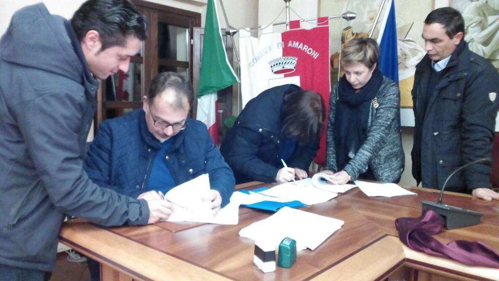 La firma delle convenzioni