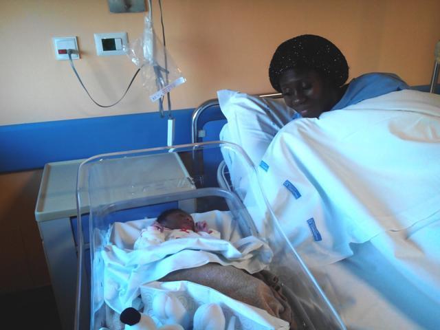 Duku Mike, primo nato all'ospedale di  Soverato nel 2015