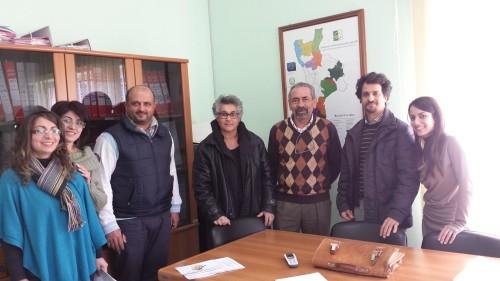 Vertici Gal e imprenditori agricoli al momento della firma delle convenzioni