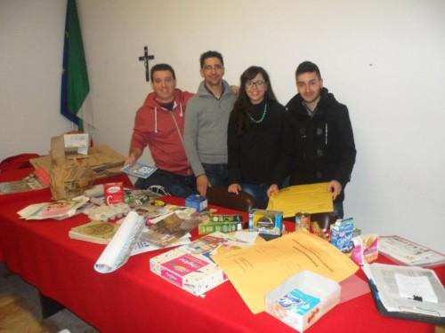 Da sx Giovanni Montepaone con i consiglieri comunali Antonio Iozzo, Simona Speciale e Domenico Battaglia alla presentazione dell'evento