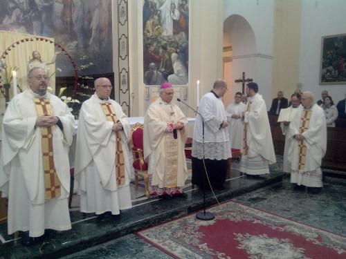 Un momento della solenne celebrazione nella basilica cattedrale