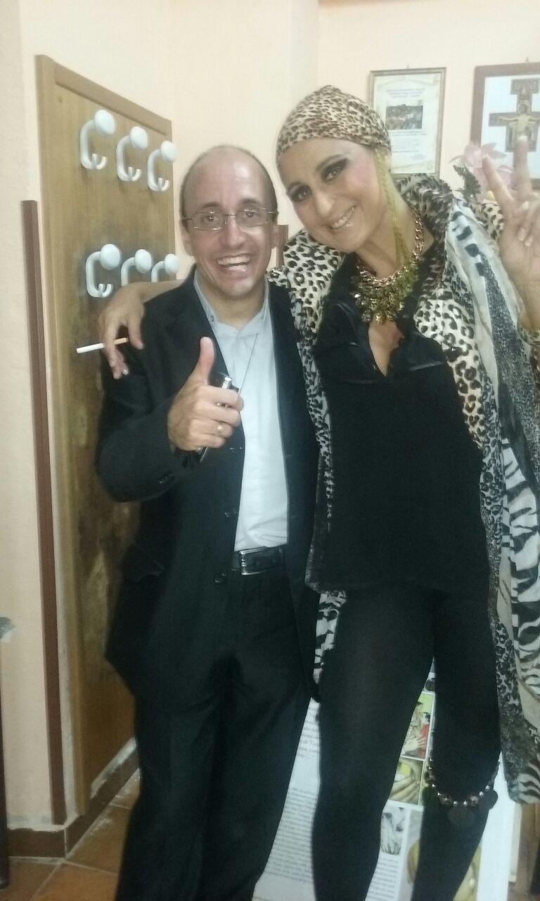 Don Roberto con Roberta Faccani